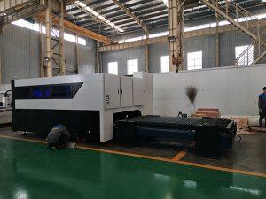 Màquina de talladora de làser de fibra de gravador CNC 500W i talladora de fibra de canonada