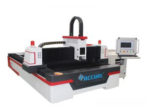 Màquina de tall de làser de fibra de cnc de plata de metall inoxidable de 1000w